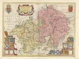 Old Map of Worcestershire & Warwickshire