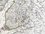 Detail from an old map of Finland