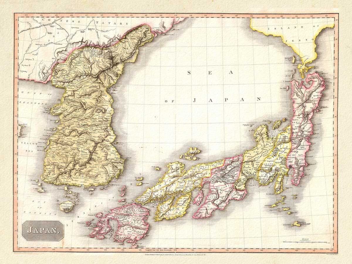 Old Map Japan