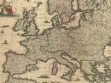 Antique Map Europe Detail