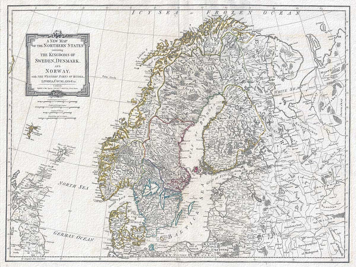 Antique Map Finland