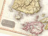 Detail from an old map of Japan