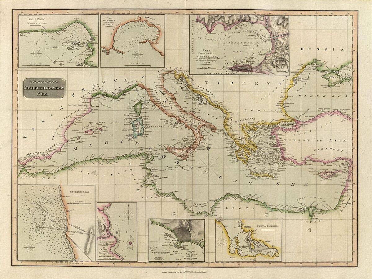 Reproduction Antique Map Gibraltar