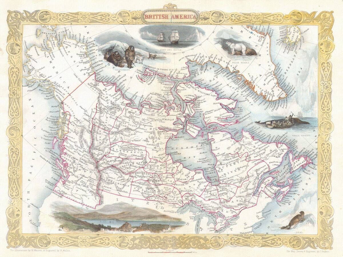 Early Map of Canada