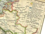 Detail from an old map of Europe