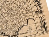 Detail from an old map of France