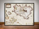 Framed Map of Ischua