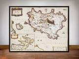 Framed Map of Ischua