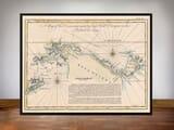 Framed Map New Guinea