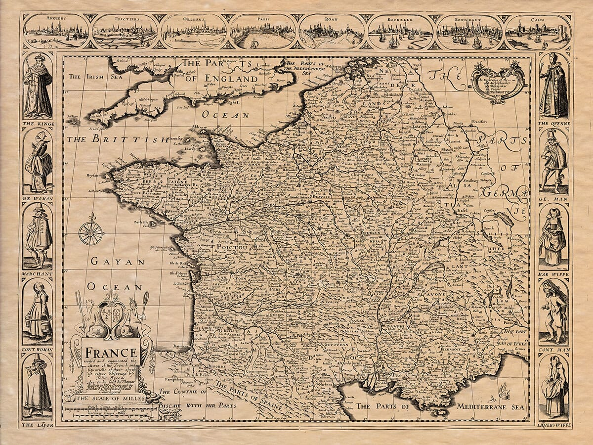 Old Map of France