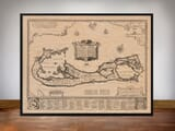 Framed Map of Sommer Islands