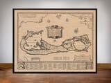 Framed Map of Sommer Islands