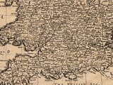 Detail from old map of Great Britain