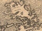 aegean sea old map