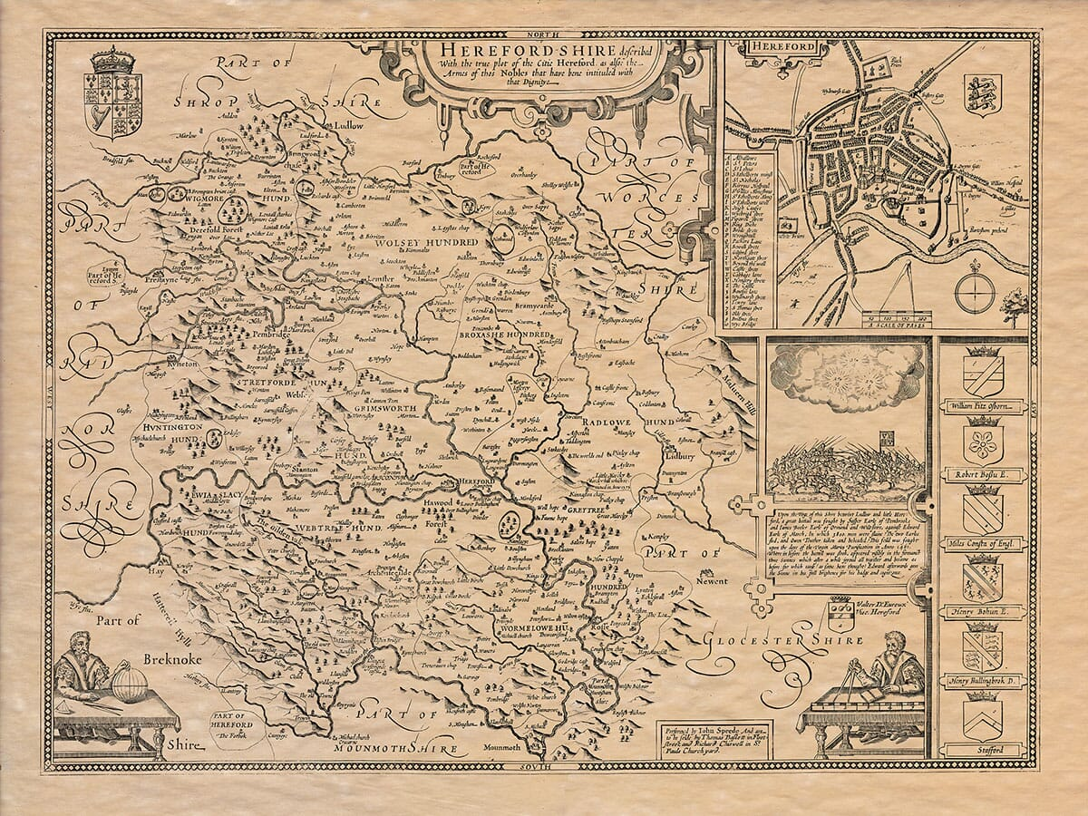 Old Map of Herefordshire