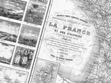 Old French Road Map detail
