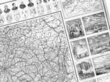Historical French Road Map detail