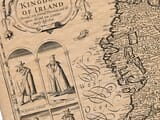 Detail from an old map of Ireland