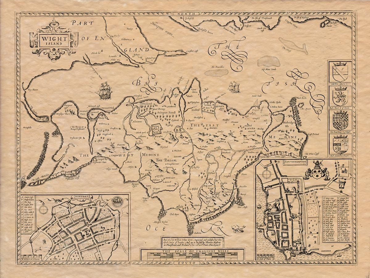 Old Map of the Isle of Wight