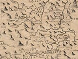 Detail from an old map of Montgomeryshire
