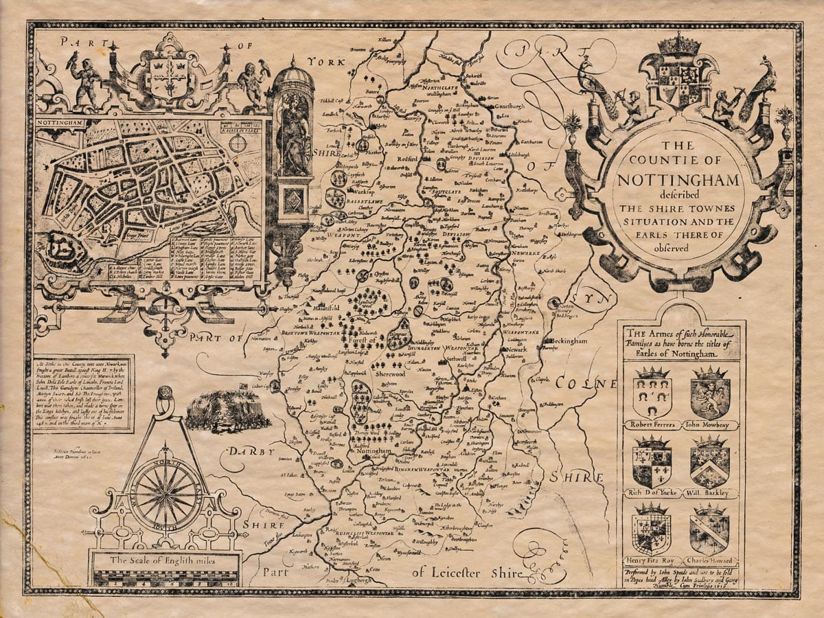 Old Map of Nottinghamshire