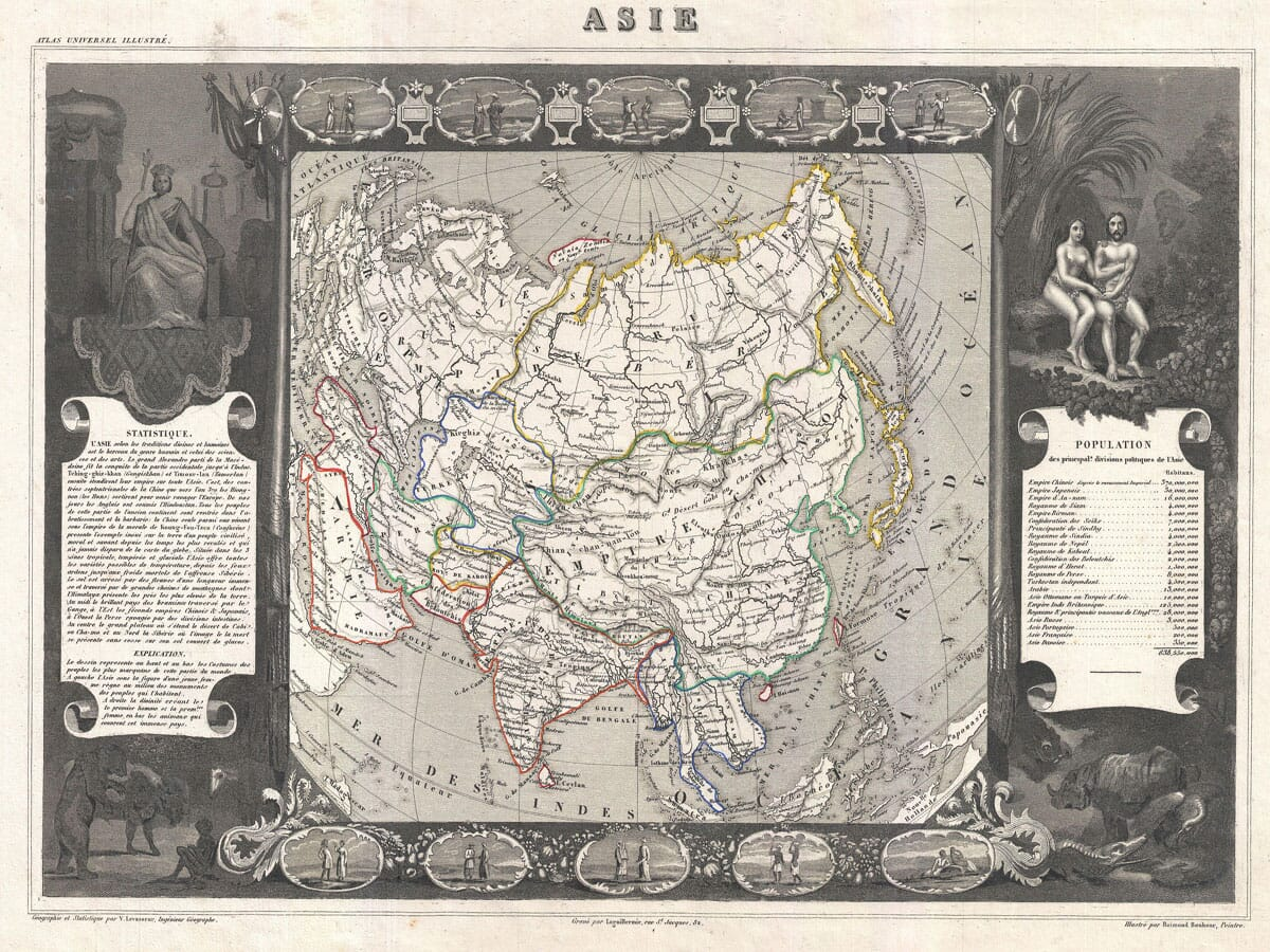 Old Map Asia