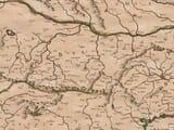 Servia, Bulgaria and Romania map detail