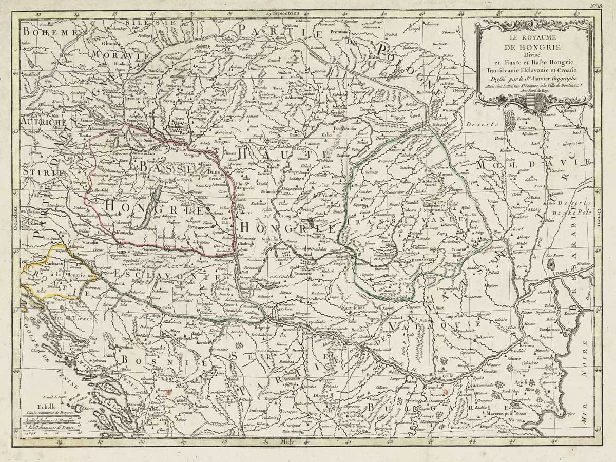 Old Map of Bosnia