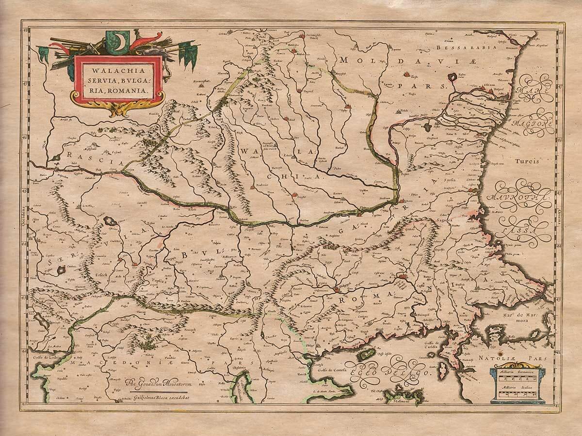 Old map Bulgaria