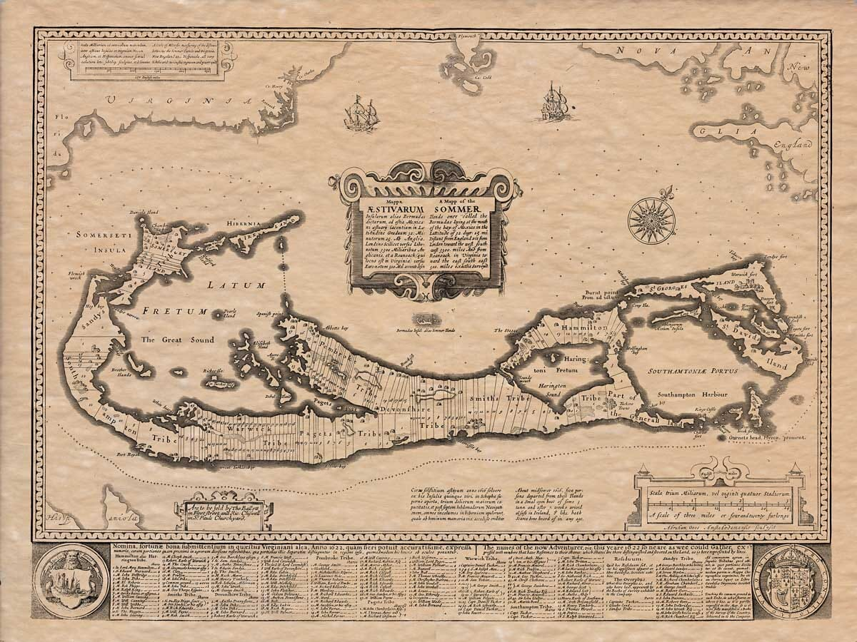 Old Map Islands Bermuda