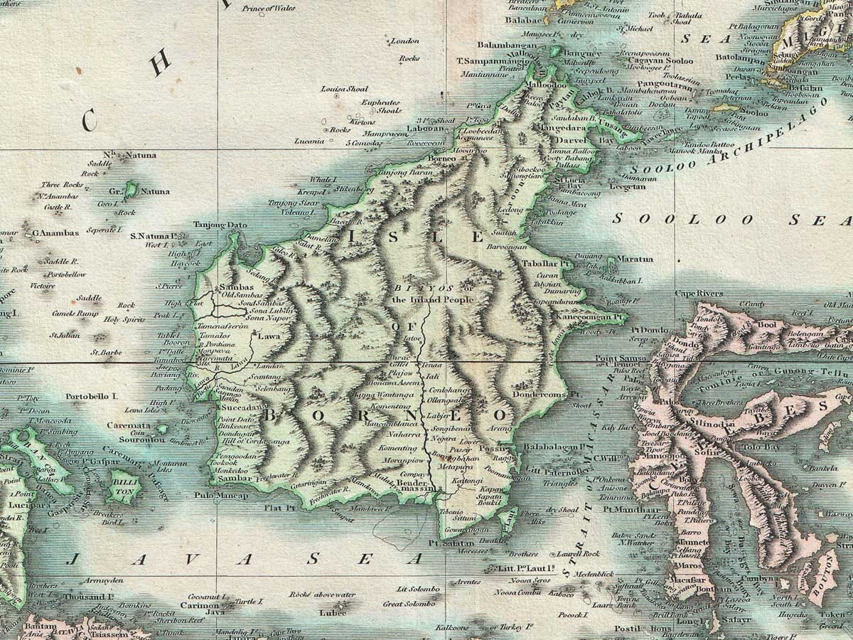 Old Map of Borneo