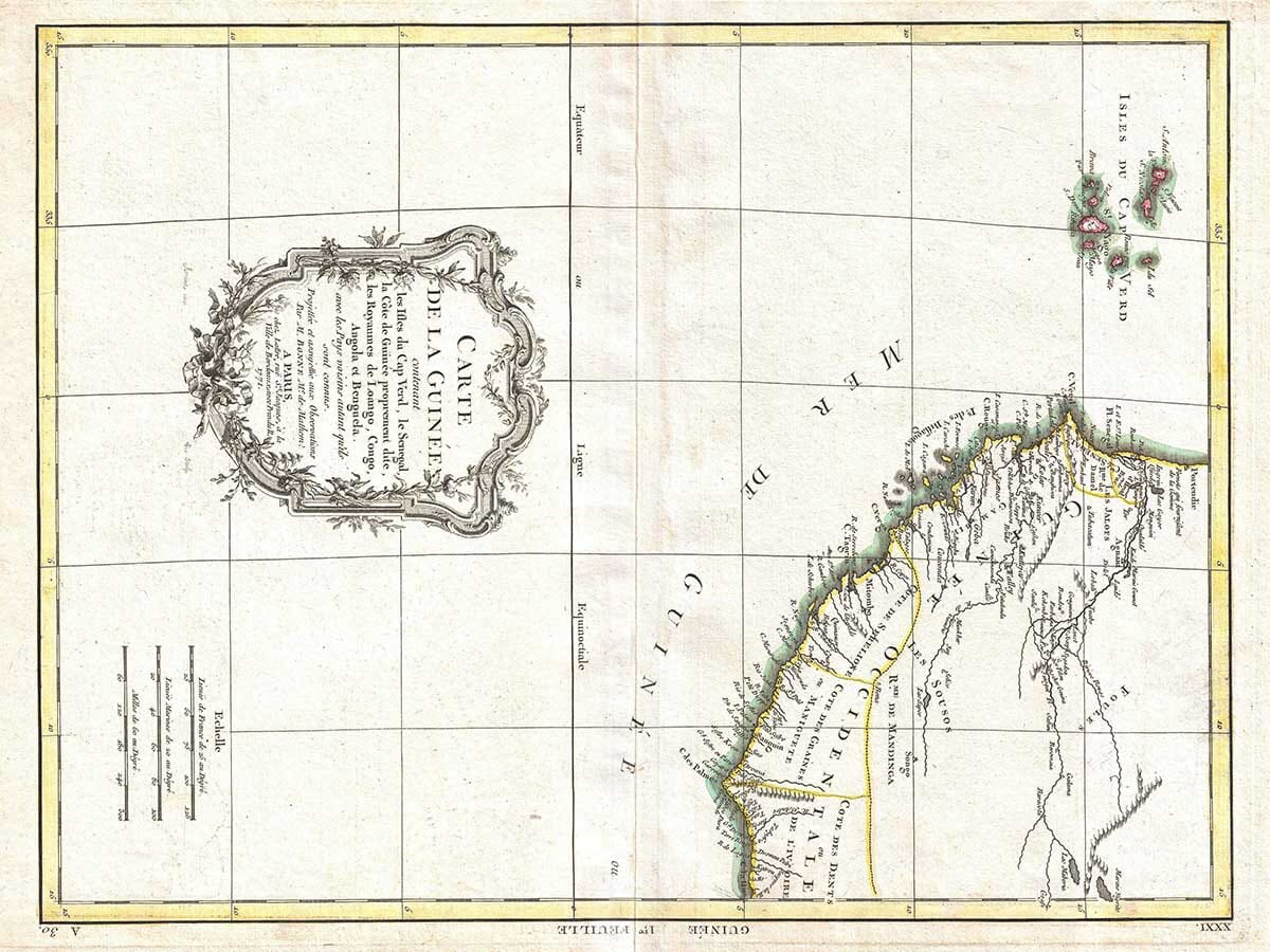 Old Map of Cape Verde