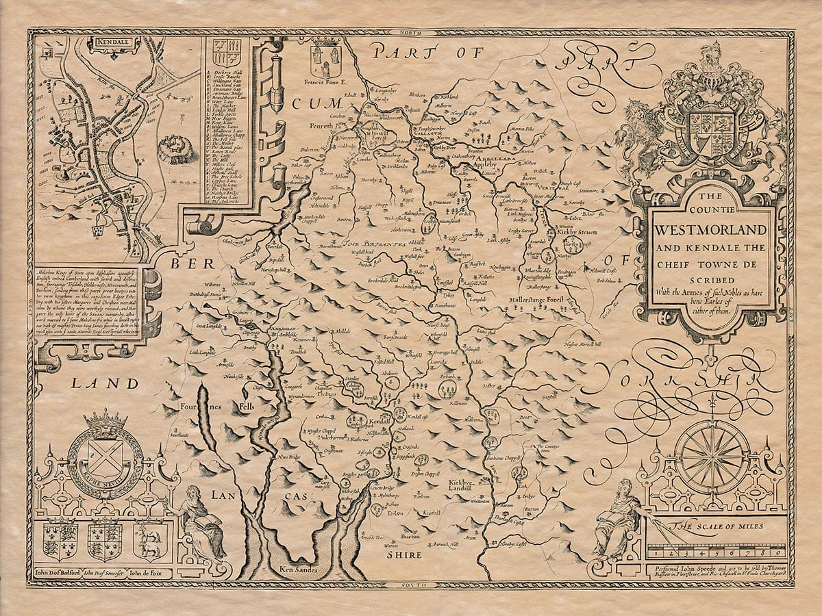 Old Map of Westmoreland