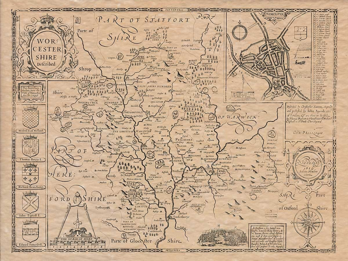 Old Map Worcestershire
