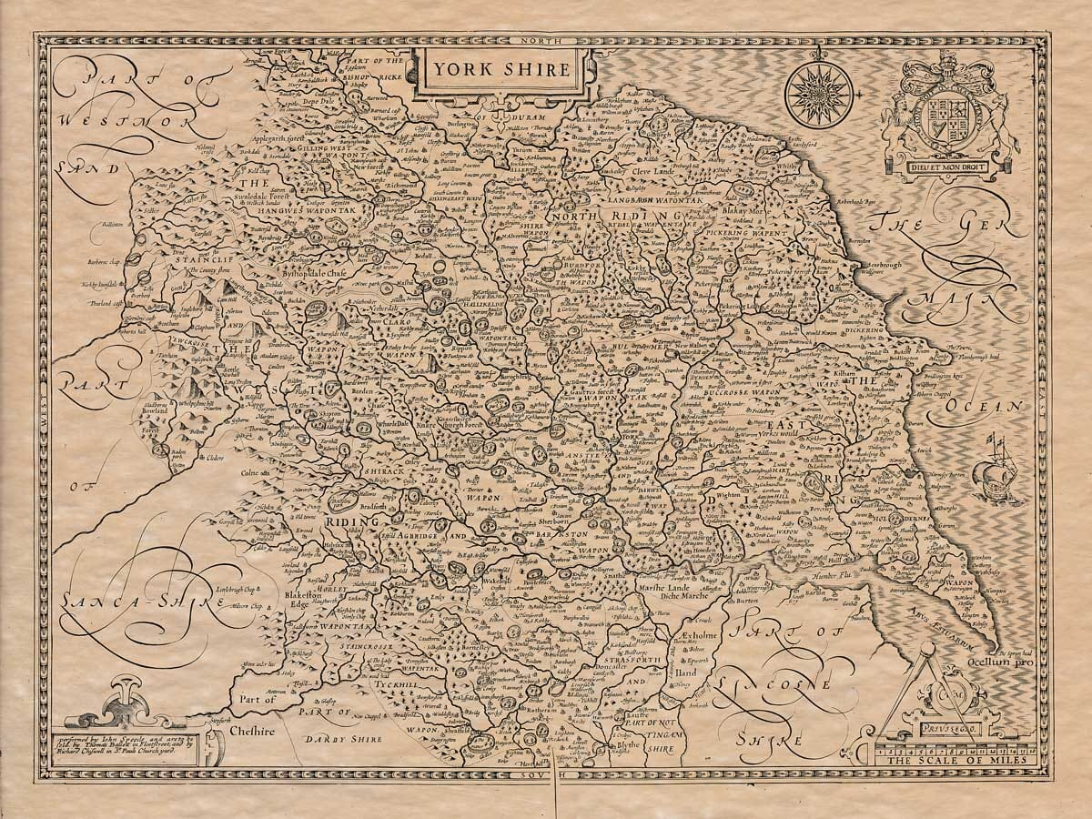 old map of yorkshire