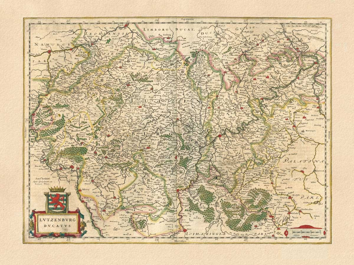 Old Map of Luxembourg