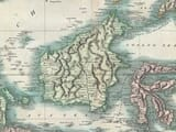 Old Map of Borneo detail