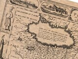 Detail from an old map of Persia
