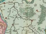 Old Map Saxony detail