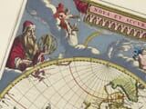 Detail from old World map