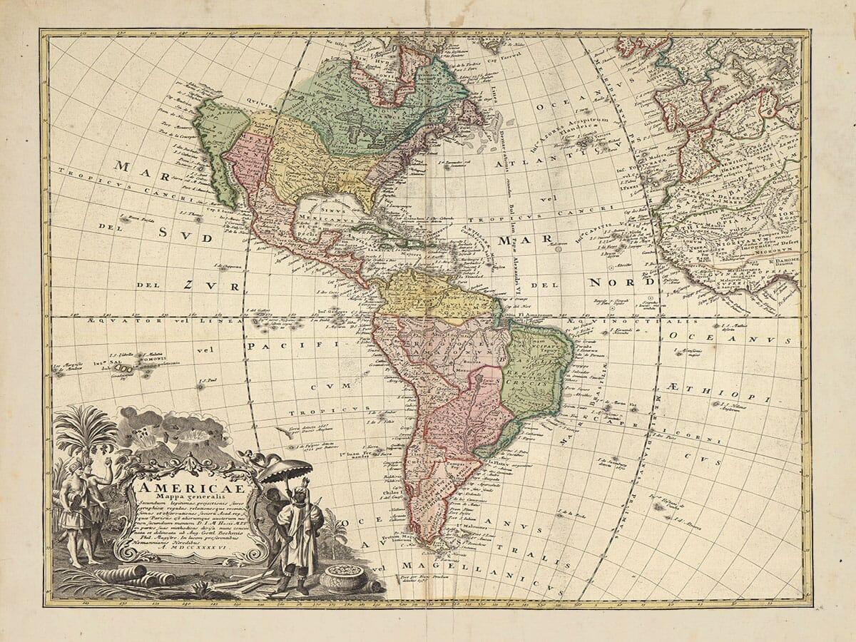 Americae Mappa Generalis by Homann