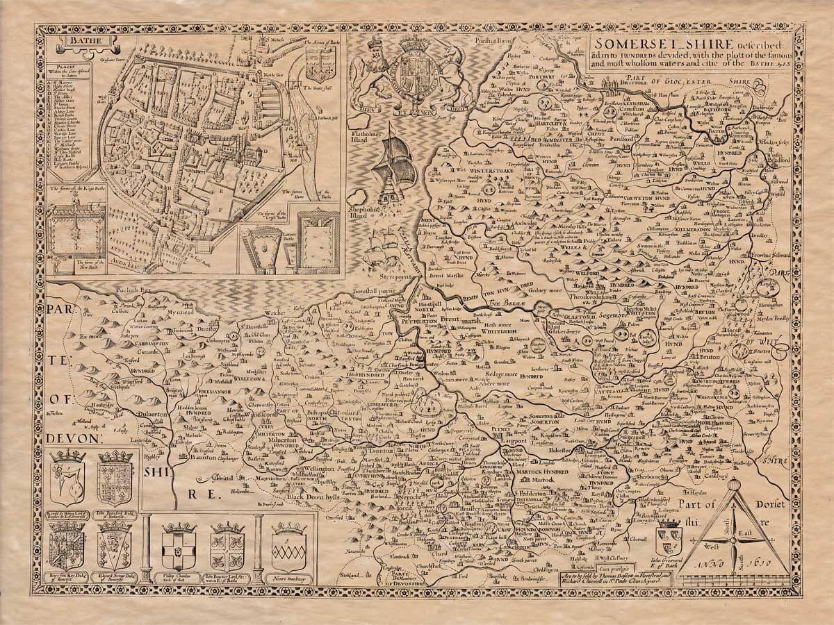 Old Map of Somerset