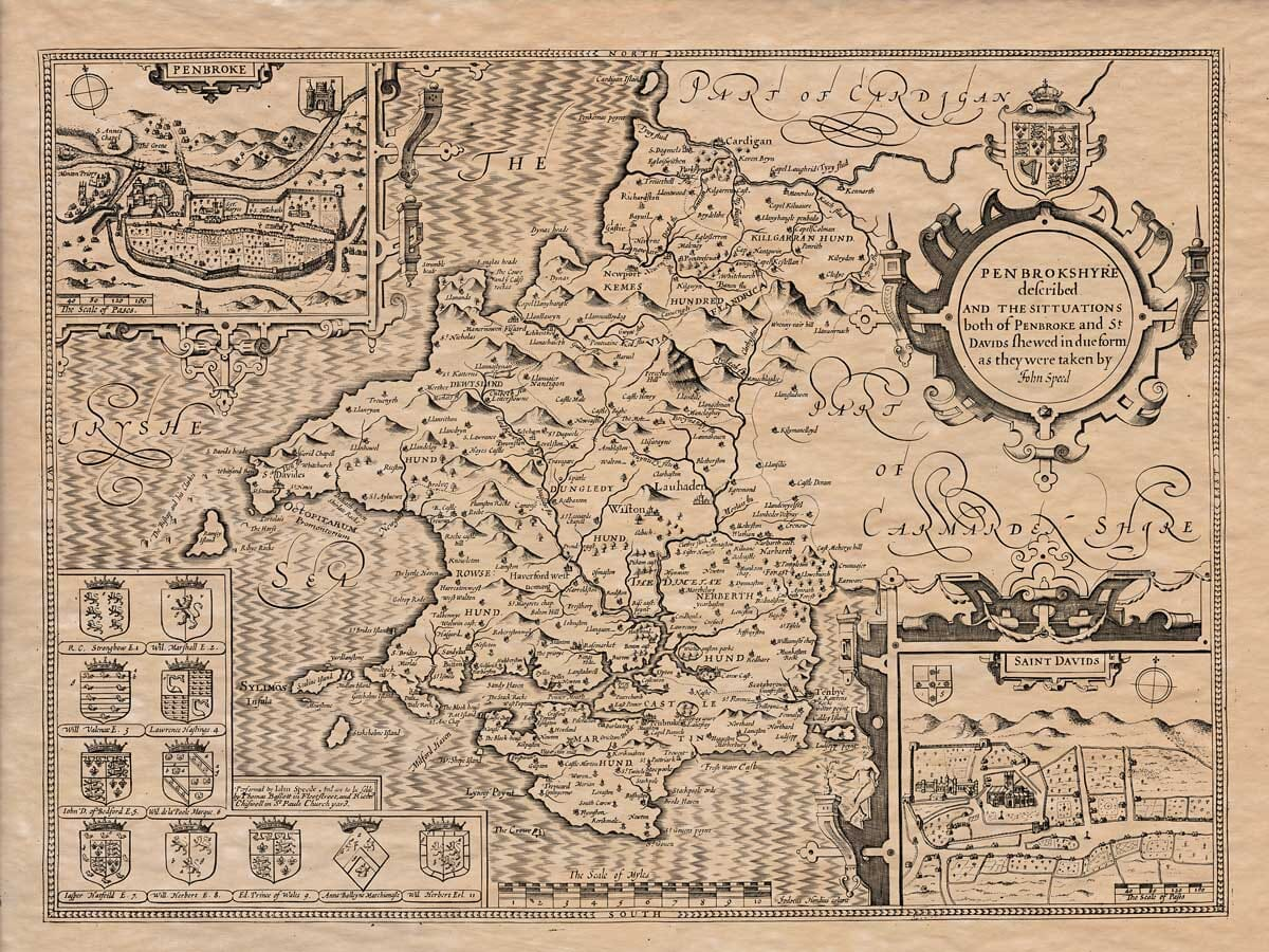 Old Map of Pembrokeshire