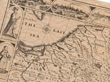 Detail from an old map of Poland