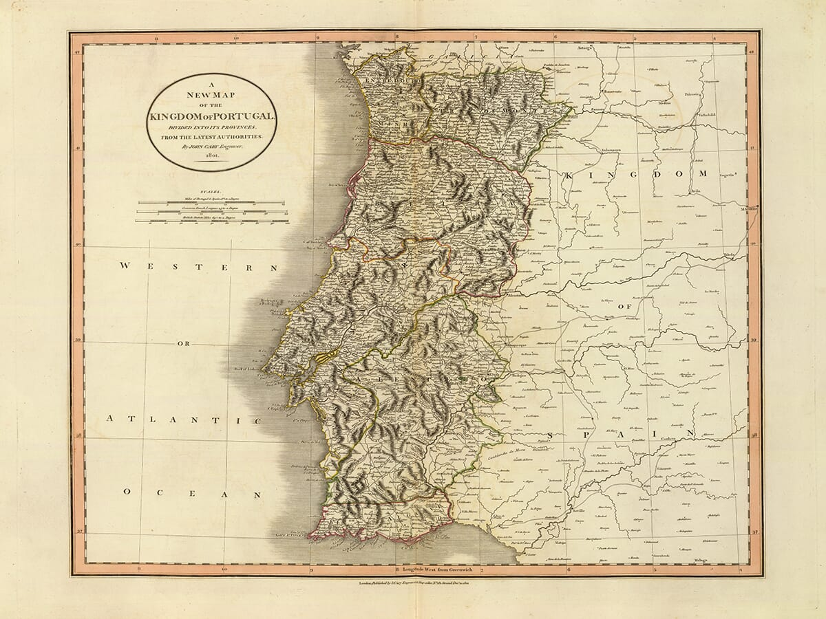Early Map of Portugal