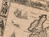 Detail from an old map of the Roman Empire