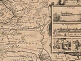 Detail from an old map of Russia