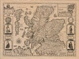 Old Map of Scotland c.1610