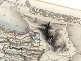 Old Map Turkey & Asia Detail