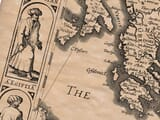 Detail from an old map of Turkey